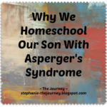 Why We Homeschool Our Son With Asperger's Syndrome