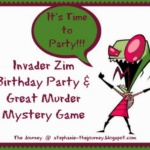 Invader Zim Birthday Party and Great Murder Mystery Game