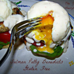 Salmon Patty Eggs Benedict ~ Gluten Free
