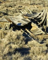 Fallen Building At Rochester Nv Ghost Town (1)