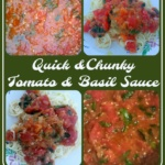 Quick and Chunky Tomato and Basil Sauce